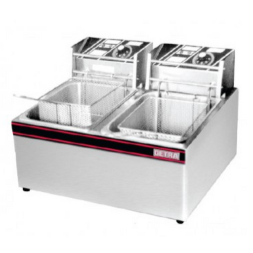 Getra EF-82 Electric Table Top Fryer 2 Basket - SerataFoods