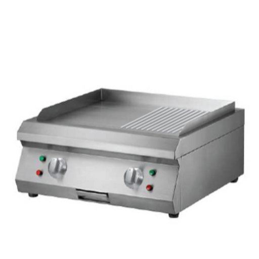 Getra ET-PL600BP Counter Top Electric Half Grooved Griddle