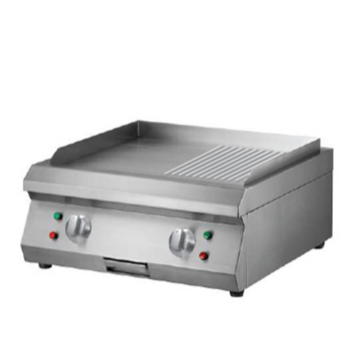 Getra ET-PL600BP Counter Top Electric Half Grooved Griddle - SerataFoods