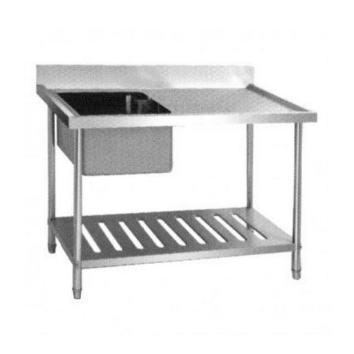 Getra SST-1255 Sink Table 1 Bowl with Side Table - SerataFoods