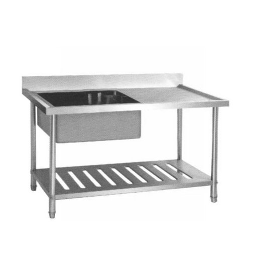Getra SST-1585 Sink Table 1 Bowl with Side Table - SerataFoods