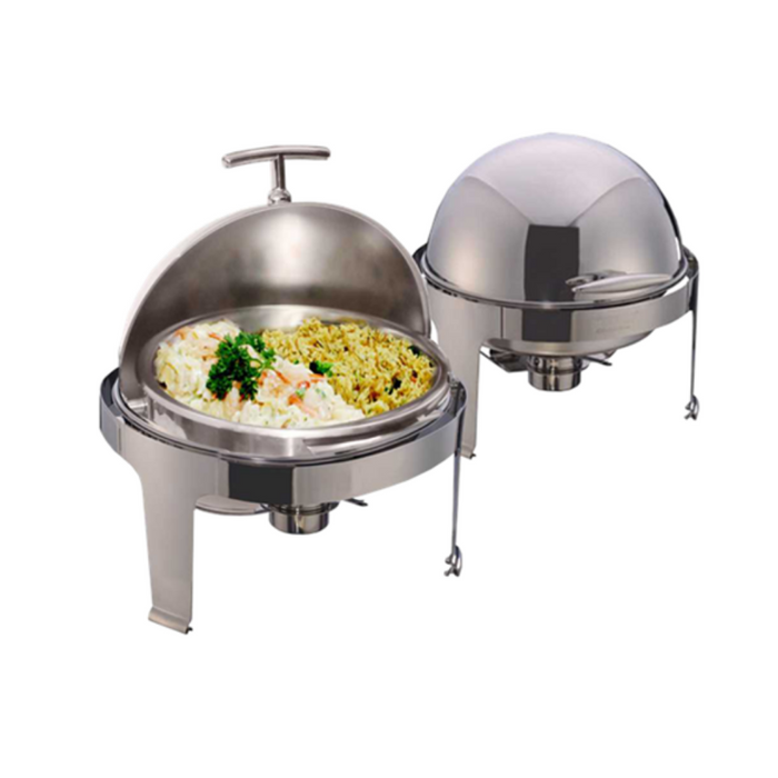 Getra YH-721D Round Roll Top Chaffing Dish (without Window Lid) - SerataFoods