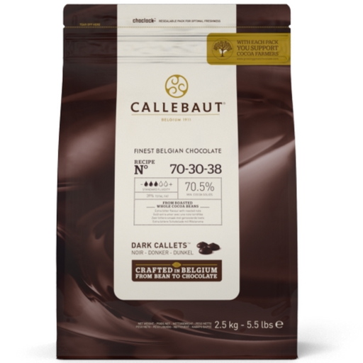 IC70NV553 Barry Callebaut Dark Chocolate Extra Bitter 70% 2.5kg - SerataFoods