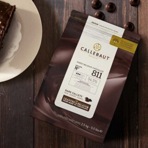 IC811NV-553 Barry Callebaut Dark Couverture Chocolate 54.5% 2.5kg - SerataFoods