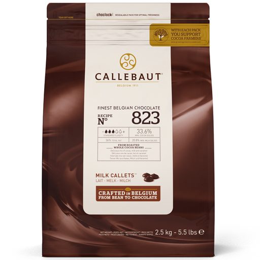 IC823NV68 Barry Callebaut Milk Couveture Chocolate 33.8% 1kg (KALIMANTAN AREA) - SerataFoods