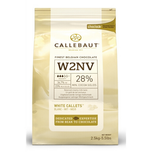 ICW2NV-553 Barry Callebaut Balanced Milk White Chocolate 2.5kg - SerataFoods