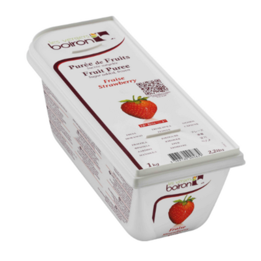 Les Verges Boiron 101662 Fruit Puree Strawberry 1kg - SerataFoods