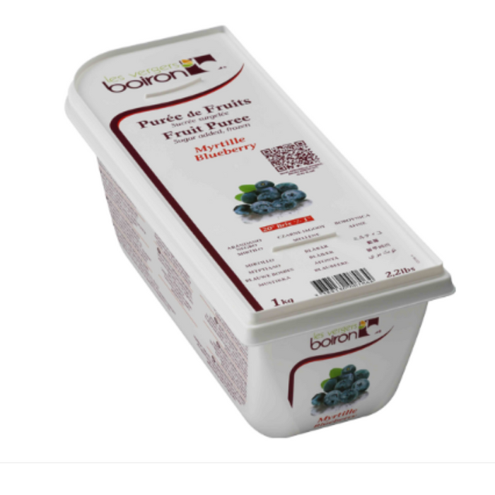 Les Verges Boiron 101663 Fruit Puree Blueberry 1kg - SerataFoods