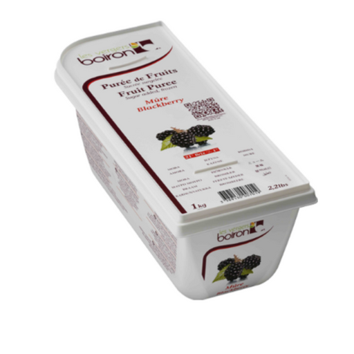 Les Verges Boiron 119290 Fruit Puree Blackberry 1kg - SerataFoods