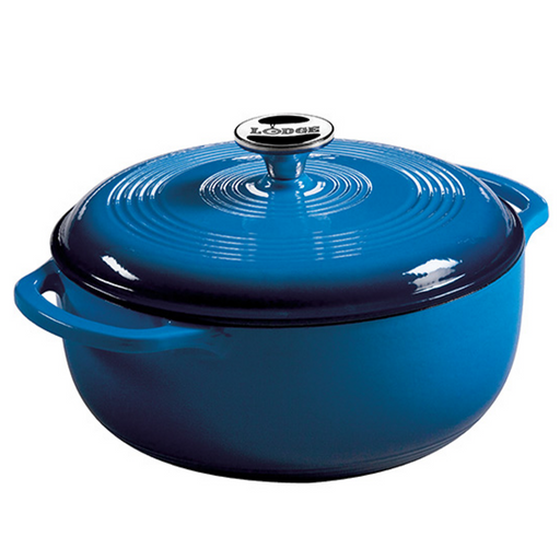 Lodge EC4D33 4.6 Quart Blue Dutch Oven 4.35L - SerataFoods