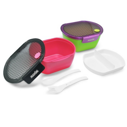 MAXIM MBOLB0.8L Lunch Box Bento Oval Box 0.85L