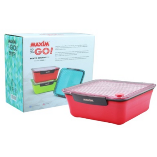 MAXIM MBSQ1,75L Lunch Box Bento Square Box 1.75L