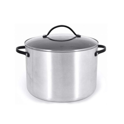 MAXIM NMAXST26DGT 10-Qt Pro Stockpot And Glass Cover