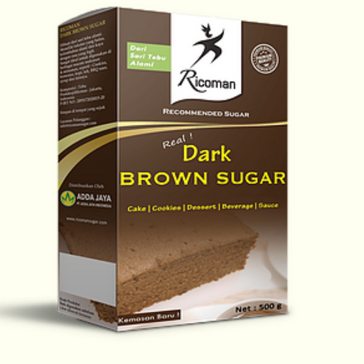 Ricoman DBS1 Dark Brown Sugar 1kg - SerataFoods