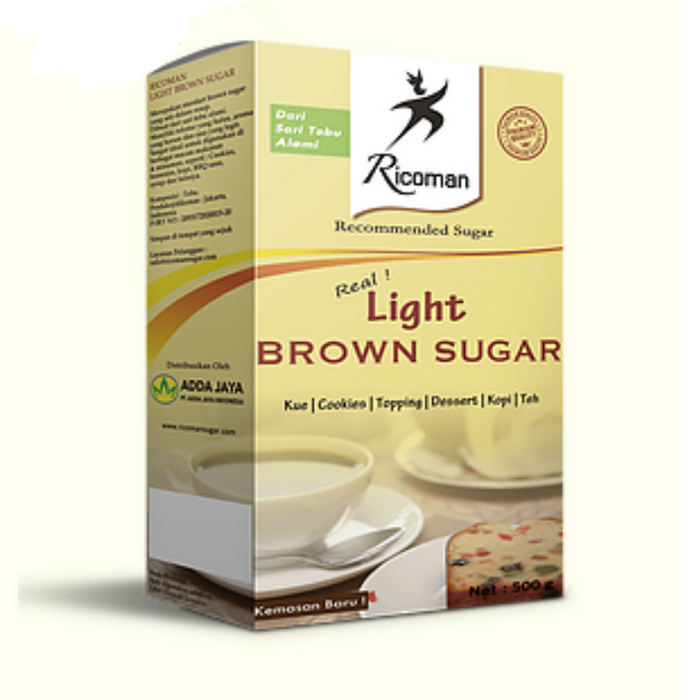 Ricoman LBS24500 Light Brown Sugar 24x500gr - SerataFoods