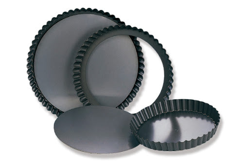 Sanneng SN5564 Round Fluted Tart Mould (Removable Bottom) - SerataFoods