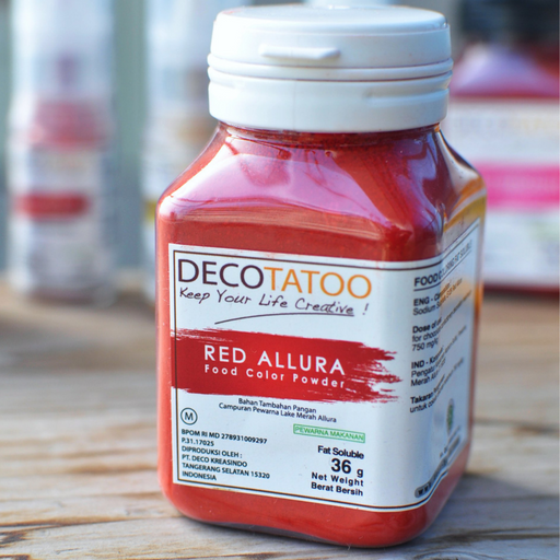 Deco Tattoo RCFS36 Red Coloring Fat Soluble - SerataFoods