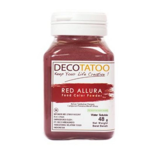 Deco Tattoo RCWS48 Red Coloring Water Soluble - SerataFoods