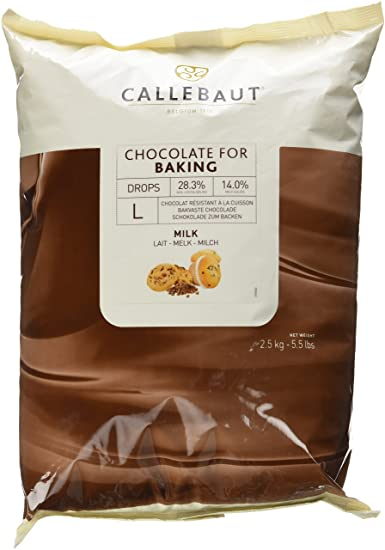 IC75X33E4U70 Barry Callebaut Milk Chocolate Baking Chips 2.5kg - SerataFoods