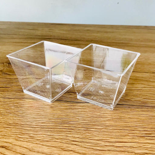 CH-41 Small Square Jelly Cup with Lid 115ml (25pcs) - SerataFoods