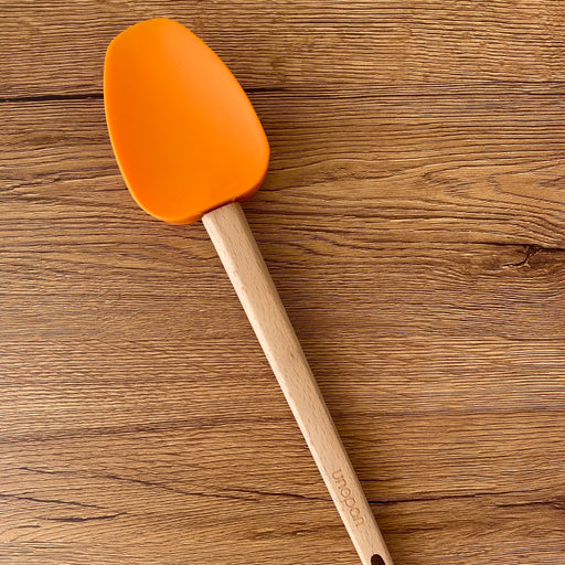 UN35112 UNOPAN Silicone Spatula with Wood Handle - SerataFoods