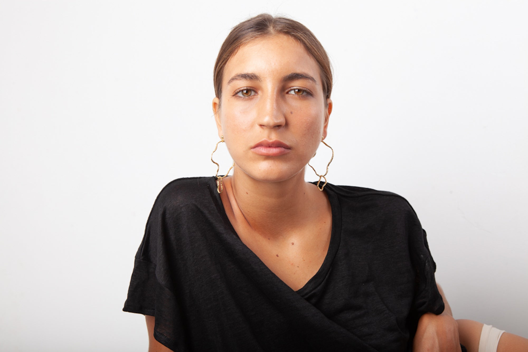 Formation Wavy Hoop Earrings