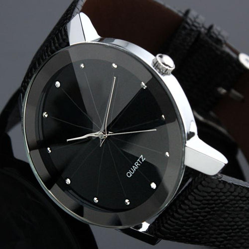 Men's Watch Stainless Steel-Leather