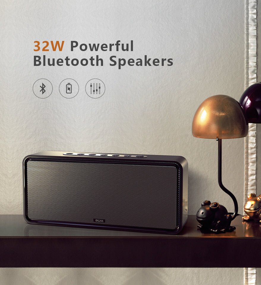 DOSS SoundBox XL Portable Wireless Bluetooth Speaker Dual-Driver 3D Stereo w/Bass Subwoofer