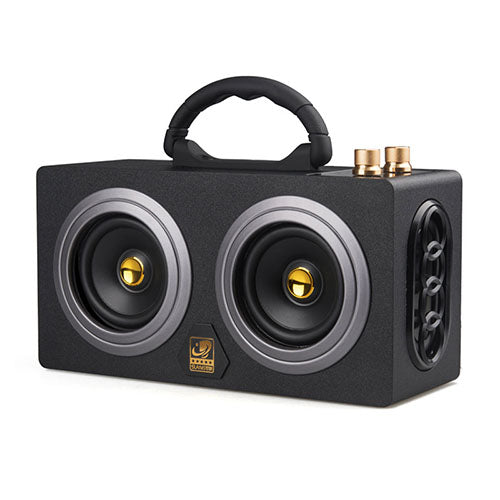 Wooden High Power Stereo Super Bass Subwoofer  with fm radio