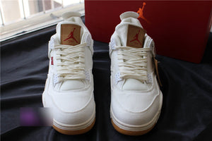 Jordan 4 Levi's Denim White