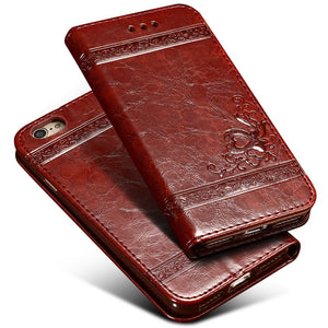 Luxury Flip Leather Case For iPhone 6 6s 7 Plus