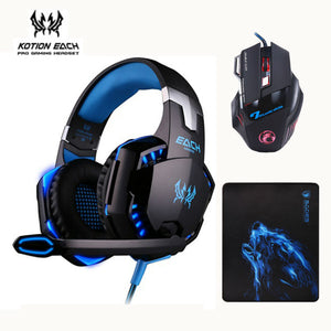 3pcs/combo Gaming Headset Headphones with Mic