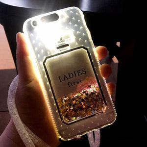 Luxury Bling Stars Dynamic Liquid Quicksand Clear Phone Case For iPhone
