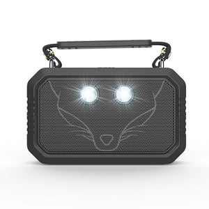 DOSS Outdoor Bluetooth V4.0 Speaker Waterproof IPX6 Stereo with Bass Built-in Mic and flashlight