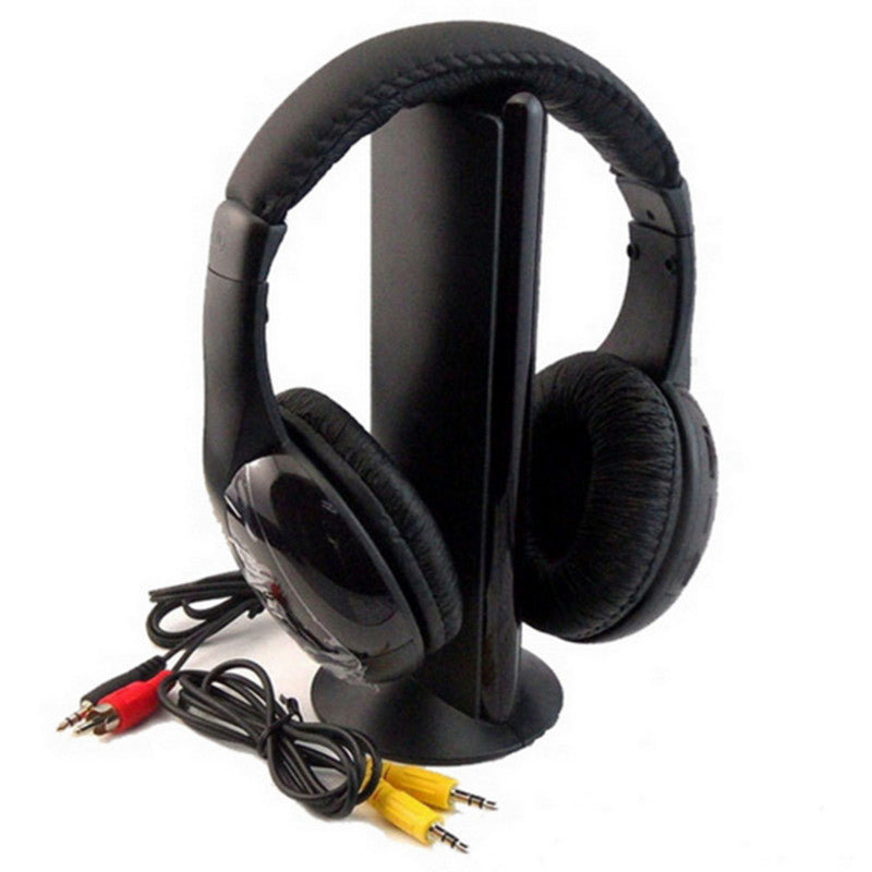 5 IN 1 Wireless Cordless Gaming Headset With FM Microphone