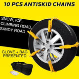 10 PCs ANTISKID TIRE CHAINS