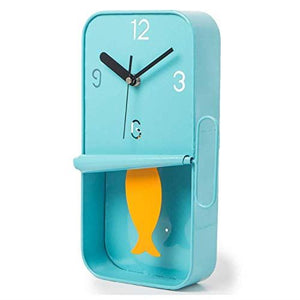 Blue Sardine Tin Pendulum Wall Clock