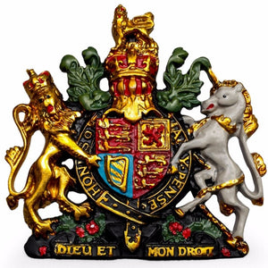 Small Coloured Coat of Arms Wall Plaque