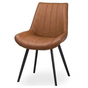 PRE-ORDER Trondheim Tan Faux Leather Dining Chair