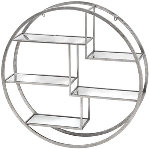 Large Silver Circular Multi Shelf