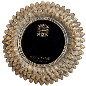 Antique Gold Sunburst Photo Frame Large