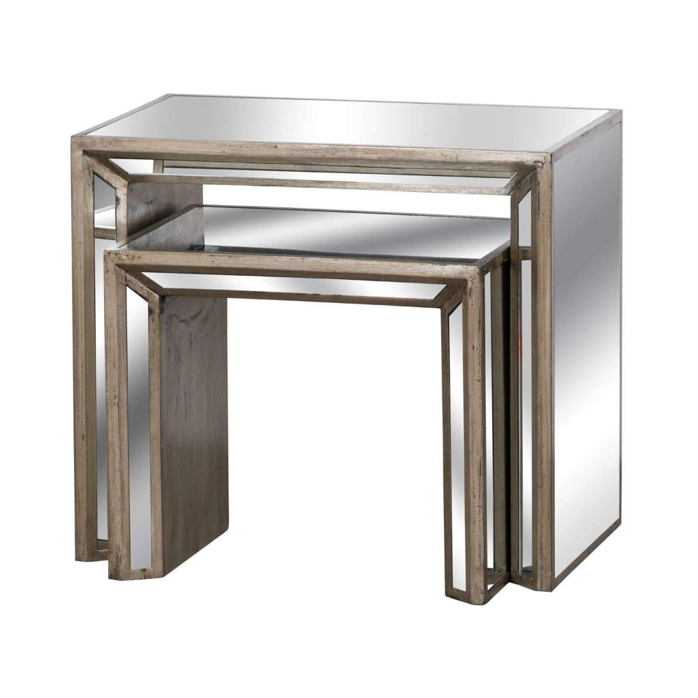 PRE-ORDER Augustine Mirrored Nest of Tables