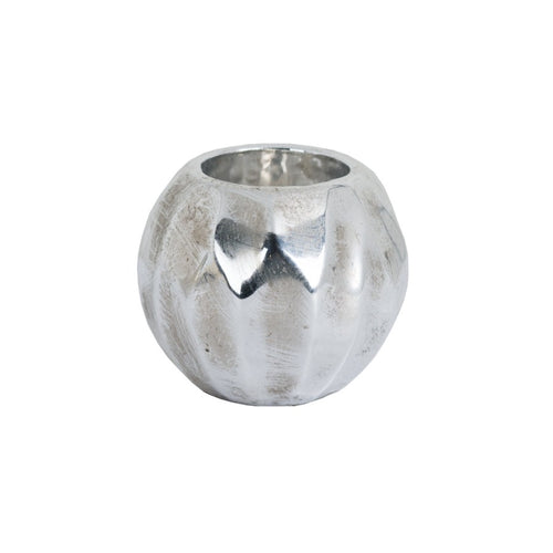 Small Spherical Metallic Ceramic Tealight Holder