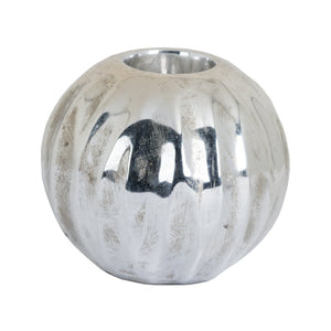 Medium Spherical Metallic Ceramic Tealight Holder