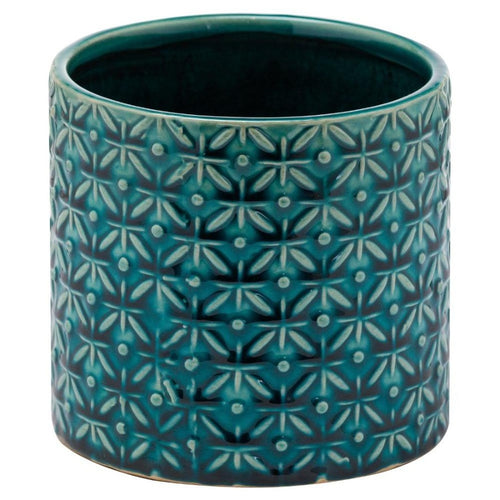 Lucena Collection Teal Ceramic Planter