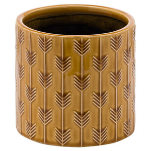 Lucena Collection Yellow Ceramic Planter