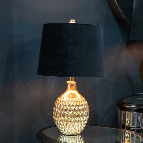 Hexagon Gold Ceramic Table Lamp