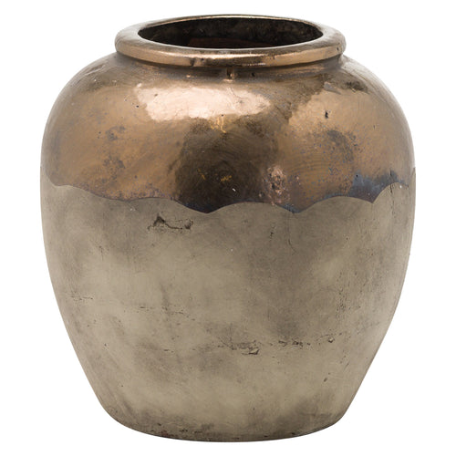 26cm Large Metallic Dipped Planter
