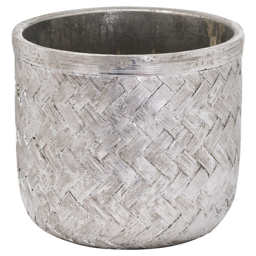 Aspen Woven Effect Ceramic Planter