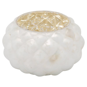 8cm Frosted White Wide Votive Candle Holder